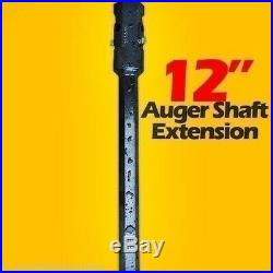 12 Auger Bit Extension for Skid Steer, Fits 2 Hex Auger Bits, Fixed Length, USA