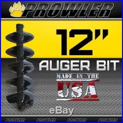 12 Auger Bit with Round Collar For Skid Steer Loaders 4' Length 12 Inch