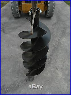 15 Diameter 2-9/16 Round Drive Industrial Skid Steer Earth Auger Bit