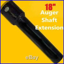 18 Skid Steer Auger Extension, Fits 2.5 Round Auger Bits, Fixed Length, McMillen