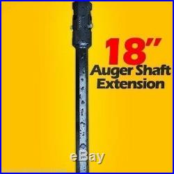 18 Skid Steer Auger Extension, Fits 2 Hex Auger Bits, Fixed Length, McMillen