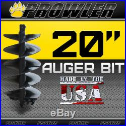 20 Auger Bit with Round Collar For Skid Steer Loaders 4' Length 20 Inch
