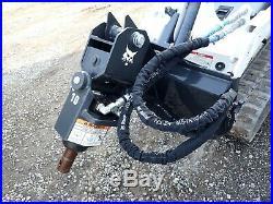 2019 Bobcat Model 10 Auger For Mt55/mt85 & S70 Skid Steer Loaders, Quick Attach