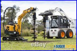 2100-17 Skid Steer Auger Package w Frame 2,100ft-lbs up to 17GPM Low FLow