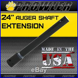 24 Auger Shaft Extension Skid Steer (24 inch 2 9/16th Inch Rounded Extension)