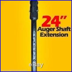 24 Skid Steer Auger Extension, Fits 2Hex Auger Bits, Fixed Length, By McMillen