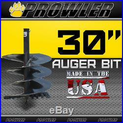 30 Auger Bit with Round Collar For Skid Steer Loaders 4' Length 30 Inch