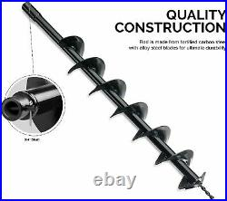 30 Inch Auger Post Hole Digger Bit Carbon Steel 6 Inch Wide Skid Steer Drill New