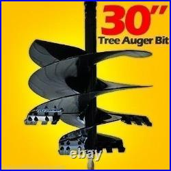 30 Tree Auger Bit For Skid Steer Augers, Uses 2 Hex Drive, Ships Truck Freight