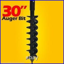 30x4' Skid Steer Auger Bit, McMillen HDC, For Difficult Digging, 2 Hex Drive