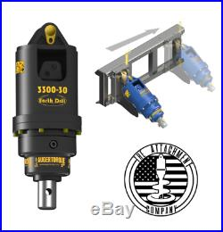 3300-30 Auger Drive 3,300 ft-lbs up to 30GPM With Skid Steer Frame