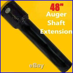 48 Skid Steer Auger Extension, Fits 2.5 Round Auger Bits, Fixed Length, McMillen