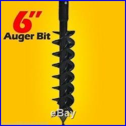 6 Skid Steer Auger Bit, McMillen HDC, For Difficult Digging, 2 Hex Drive, In Stock