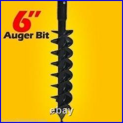 6 x 48 Auger Bit for Skid Steer Auger Drives, 2 Hex Drive, Mfg By Lowe, Fits All