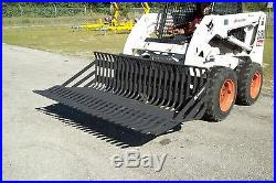 84 Rock Bucket for Skid Steer Loader by Bradco, Heavy Duty 3 Spacing, Fits All