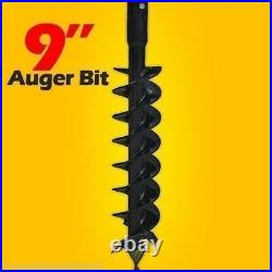 9 Skid Steer Auger Bit, McMillen HDC, For Difficult Digging, 2 Hex Drive
