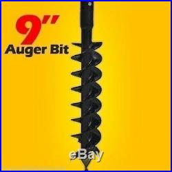 9 x 48 Auger Bit For Mini Skid Steer Auger Drive with 2.5 Round Drive, Fits Most