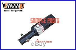 Auger Adapter 2-9/16 Round 2 Hex Skid Steer Auger, Excavator and More