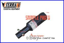 Auger Adapter 2 Hex 2-1/2 Hex Excavator & Skid Steer Augers