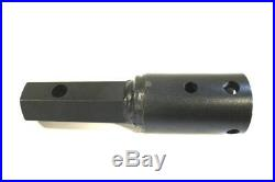 Auger Adapter 2 Round 2 Hex For Skid Steer & Excavator Augers