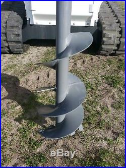 Auger Attachment 6-15 GPM for Skidsteer/Track Loader Mount, Hoses and Bit Incl