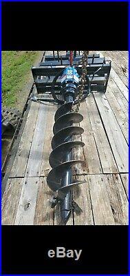 Blue Diamond Skid Steer Auger With 12 bit