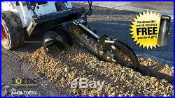 Blue Diamond Trencher Skid Steer Attachment, 48 with 12 Combo Chain & Auger