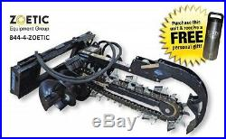 Blue Diamond Trencher Skid Steer Attachment, 48 with 6 Rock Chain & Auger