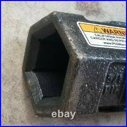 Bobcat 2 Hex Shaft To 2-9/16 Round Auger Bit Adapter skid steer mini ex