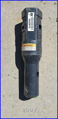 Bobcat Auger shaft Adapter 2 Hex to 2-9/16 round skid steer mini excavator