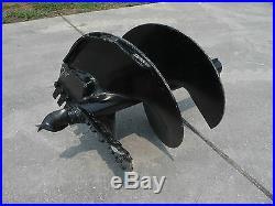 Bobcat Kubota Skid Steer Attachment Round 24 Auger Post Hole Bit Ship $149
