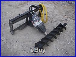 Bobcat Skid Steer Attachment Danuser EP 10 Hex Auger with 12 Bit Ship $199