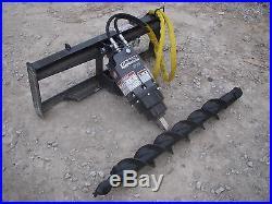 Bobcat Skid Steer Attachment Danuser EP 10 Hex Auger with 6 Bit Ship $199