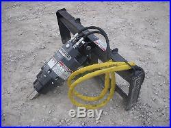 Bobcat Skid Steer Attachment Danuser EP 6 Hex Auger with 12 Bit Ship $199