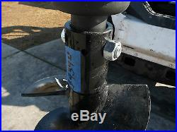 Bobcat Skid Steer Attachment Lowe 12 Round Post Hole Auger Bit Ship $99