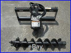 Bobcat Skid Steer Attachment Lowe BP210 Round Auger with 9 Bit Ship $199