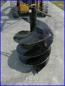 Bobcat Skid Steer Attachment Lowe Round 24 Post Hole Auger Bit Ship $149