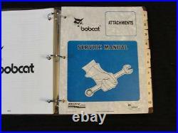 Bobcat Skid Steer Auger Sweeper Trencher Planner Roller Broom Saw Service Manual