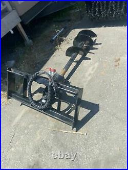 Brand New Skid Steer Auger-Drill 25GPM with 12 & 18 bits- UNIVERSAL PAIR HYDLC