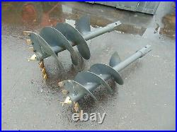 Brand New Universal Skid Steer Auger Fence Post Drill Attachment 2 Bits Included