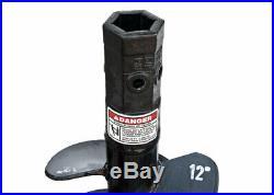Danuser 12 x 48 Bullet Rock Auger Bit Hex Collar Skid Steer Attachment 10718