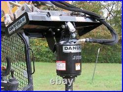 Danuser 2035 Hex PRO Auger Drive with 9 Wide Dirt Bit Fits Skid Steer Loader