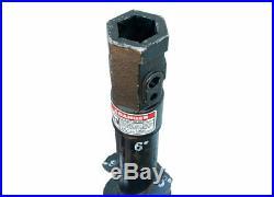 Danuser 6 x 48 Bullet Rock Auger Bit 2 Hex Collar Skid Steer Attachment 10703