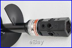 Earth-Ogre Skid Steer Light Duty Dirt Auger Bit, 12 Diameter, 2 Hex Drive