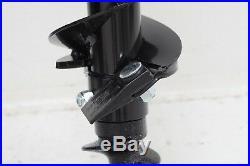 Earth-Ogre Skid Steer Light Duty Dirt Auger Bit, 6 Diameter, 2 Hex Drive