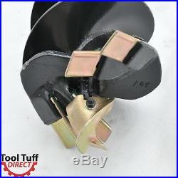 EarthOgre Industrial Duty Skid Steer Earth Auger Bit, 12 Diameter, 2 Hex Drive