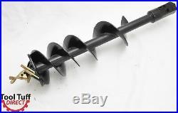 EarthOgre Skid Steer Earth Auger Bit, 12 Diameter, 2 Hex Drive w 48 Extension
