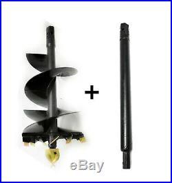 EarthOgre Skid Steer Earth Auger Bit, 18 Diameter, 2 Hex Drive w 48 Extension