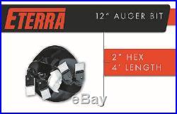 Eterra Auger Bit 12 Bit for Skid Steer Auger Attachments & Auger Systems