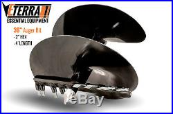 Eterra Auger Bit 36 Fits Skid Steer, Excavator & Mini Skid Auger Attachment